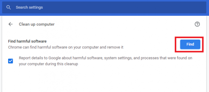 Find harmful software with Chrome