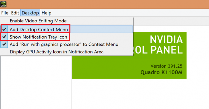 adding desktop context menu and notification tray icon