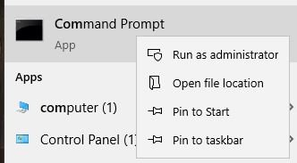 Command Prompt Running As Administrator