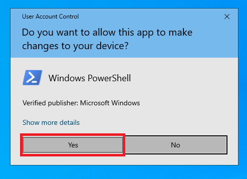 user account control confirmation