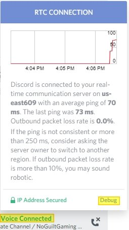 Debug your Discord connection