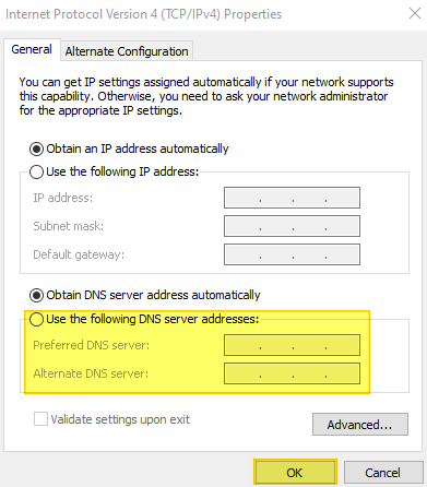 How to Change DNS Server Address