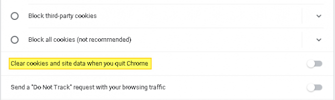 How to Toggle Off Clear Cookies & Other Site Data When Quitting Chrome