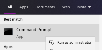 Command Prompt - Run As Administrator