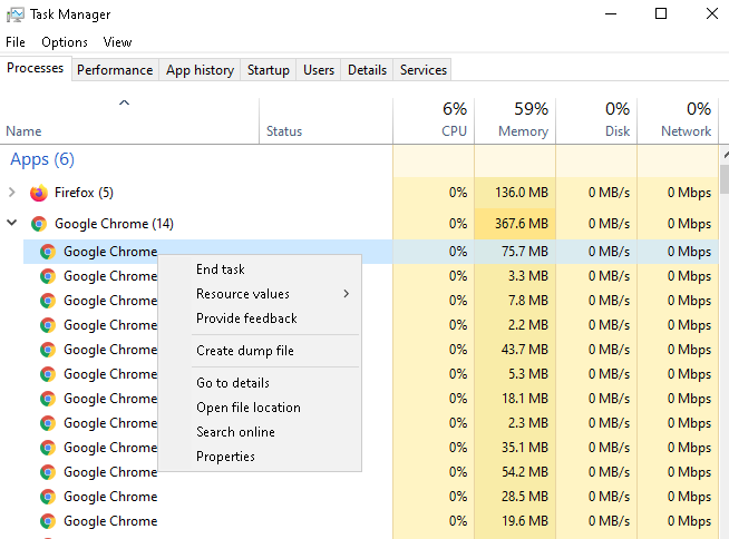 How to End Task Process For Google Chrome