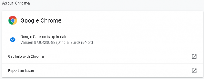 How to manually update chrome.