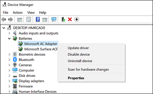 Updating network adapter driver