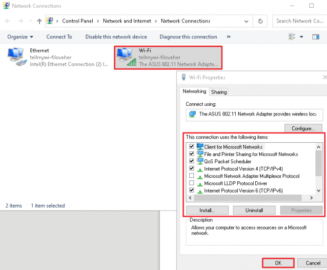 Disable any non-Microsoft, third-party applications using Wi-Fi sharing.