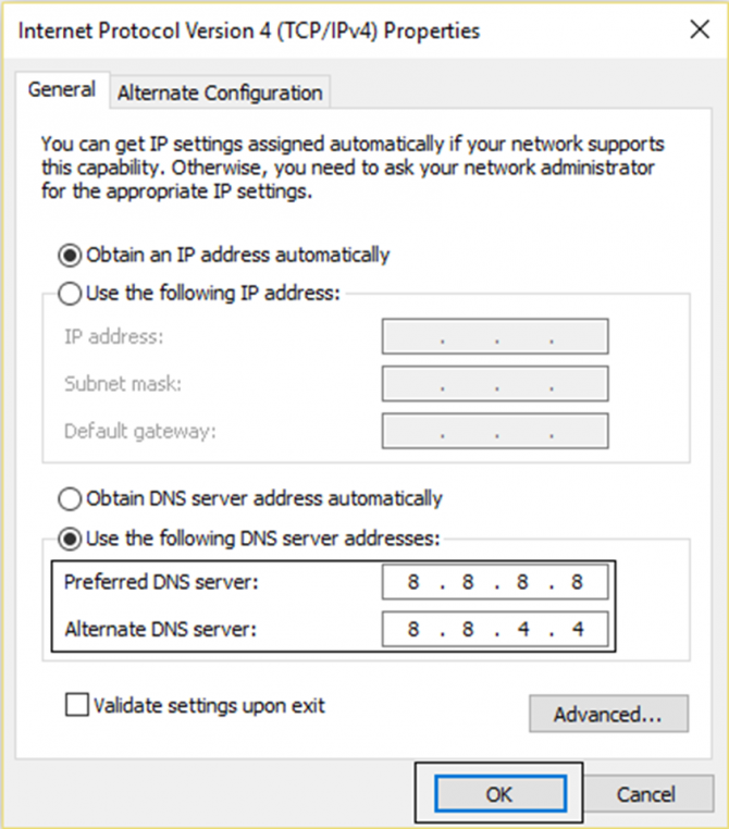 Use a preferred DNS server