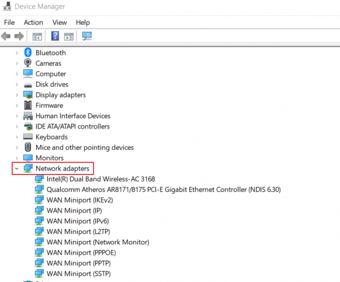 Reinstall Network Adapter in Device Manager