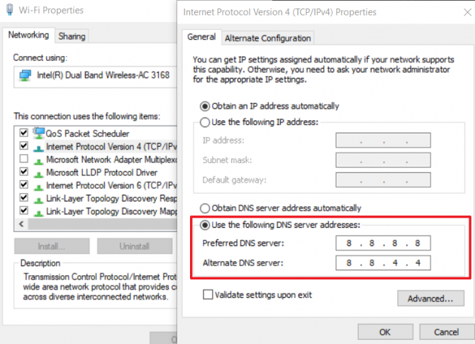 How to change DNS to Google's Public DNS
