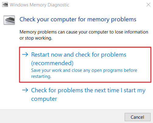 How to Run Windows Memory Diagnostic.