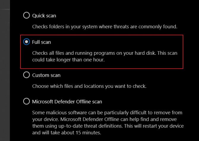 How to Run a Full Scan for Infections.