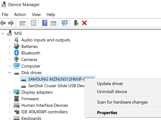 How to update drivers in Device Manager.