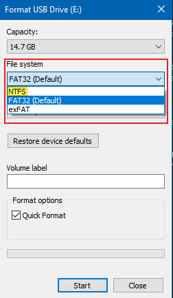 How to Format & Convert to NTFS.