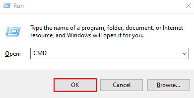 Run Dialogue Box With Command Prompt Instruction