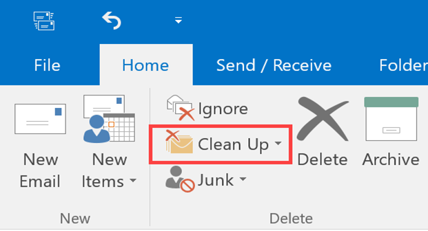 Clean up Outlook emails