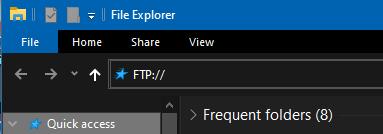 Accessing your FTP server using Windows File Explorer