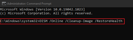 DISM Command Line Prompt.