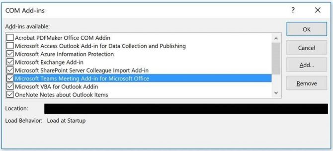 Disable add-ins in Outlook