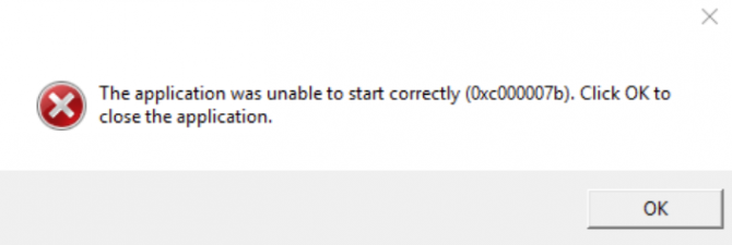 The Application Was Unable To Start Correctly (0xc00007b)