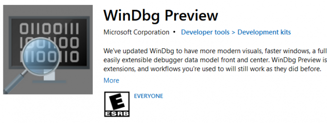 WinDbg Preview Download Tool