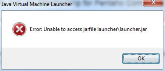 Unable to access jarfile error message on Windows